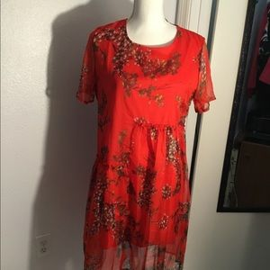 Laklook baby doll red Dress NWT-L
